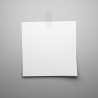 blank sheet of paper sticks on the wall