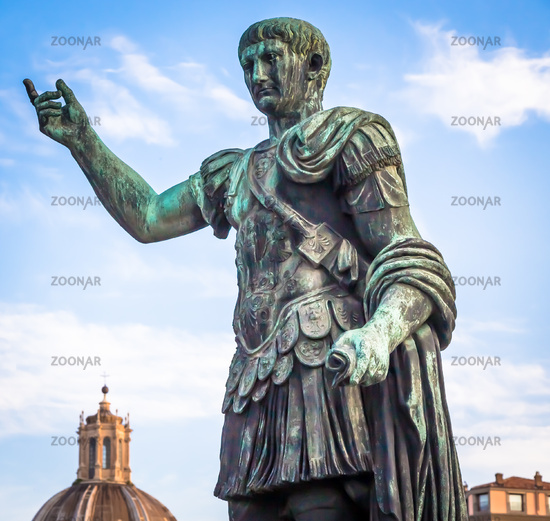 Statue of Caesar Emperor in Rome, Italy. Ancient  role model of Leadeship and Authority .