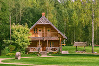 Wooden house in a rural area
