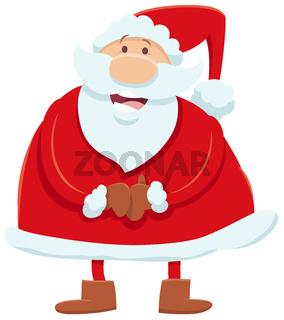 Santa Claus cartoon character on Christmas time