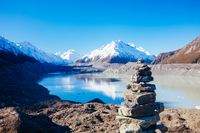 Tasman Glacier near Mt Cook in New Zealand