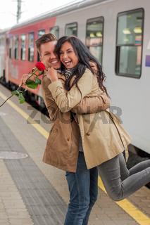 Ankunft mit der Eisenbahn