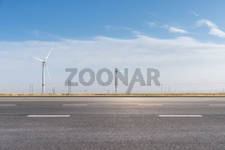 wind farm by the road