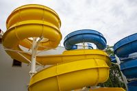 Water slides yellow blue