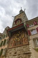 Astronomical Clock in Marktplaz in the old town in Solothurn, Sw