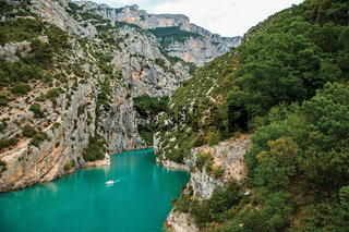 Cliffs on the Verdon River going to the Lake of Sainte-Croix