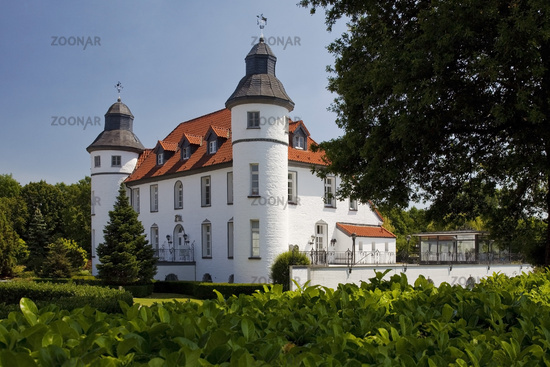 Dieprham Castle, Kamp-Lintfort, Ruhr Area, North Rhine-Westphalia, Germany, Europe