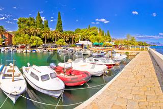 Kastel Luksic harbor and landmarks summer view