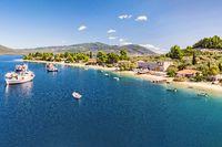 The beach Limani (Mylos) in Gialtra Bay in Evia, Greece