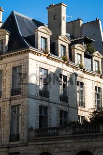 Elegant typical Parisian building