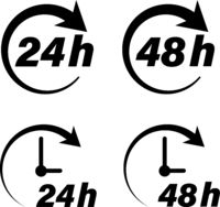 24 hour and 48 hour delivery icons