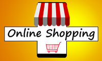 Online shopping on mobile phone