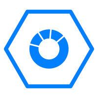 Tortendiagramm und Sechseck - Pie chart and hexagon