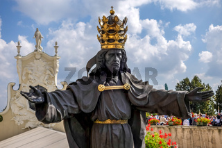 Statue of the Black Christ at Jasna Gora Monastery in Czestochowa Poland