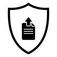 Upload und Schild - Document upload and shield