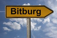 Wegweiser Bitburg | signpost Bitburg