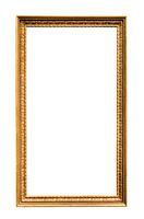 long vertical narrow vintage wooden picture frame