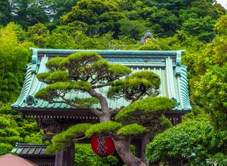 Famous Hase Dera Temple in Kamakura Japan