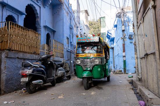 The blue city of Jodhpur, India