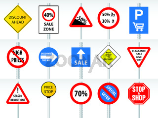 Shopping discounts inspired by traffic signs