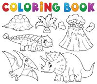 Coloring book dinosaur subject image 5