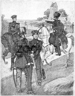 Luetzow's Freikorps (1813-1815). Illustration of the 19th century. Germany. White background.