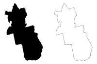 Grobina Municipality (Republic of Latvia, Administrative divisions of Latvia, Municipalities and their territorial units) map vector illustration, scribble sketch Grobina map
