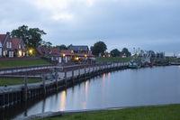 Harbor of Greetsiel by night