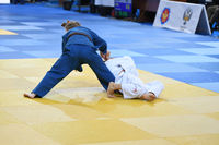 Orenburg, Russia - 21 October 2016: Girls compete in Judo at the all-Russian Judo tournament among b