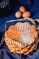 delicious sugared homemade waffles