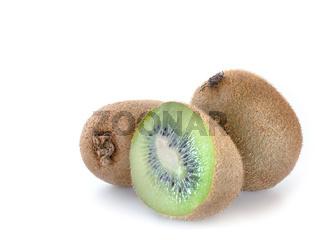uicy kiwi fruit isolated on white