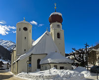 Parish church in St. Anton am Arlberg, Tyrol, Austria
