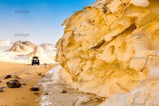 White Desert at Farafra in the Sahara of Egypt. Africa.