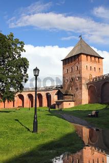 tower of Kremlin in Veliky Novgorod