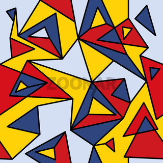 Fragment of geometric cubism, Abstract seamless pattern 1.1.