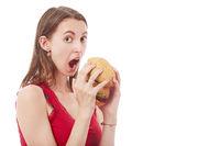girl with cheeseburger