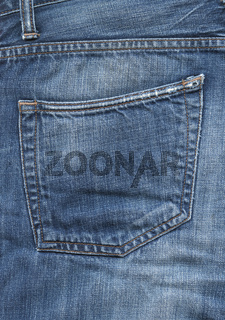 Blue denim pants pocket texture