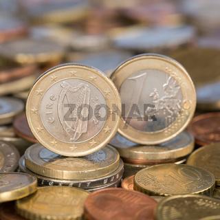 1 Euro Münze aus Irland