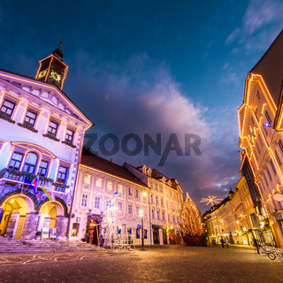 Ljubljana's city center, Slovenia, Europe.