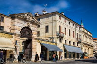 Vicenza, Italy - 03/19/2019 - old buildings in the old town