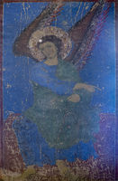The Annunciating Angel in Kintsvisi Blue made of Lapis Lazuli rock,Kintsvisi Monastery,Georgia