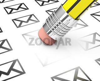 erasing spam mails