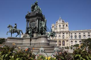 Denkmal der Maria Theresia, Maria-Theresien-Platz, Wien, Österreich, Europa