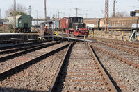 Turntable with historic locomotive