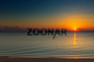 sunrise on sand beach