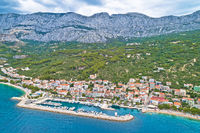 Tucepi Aerial view of town of Tucepi on Makarska riviera