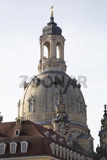 Kuppel der Frauenkirche, Dresden, Sachsen, Deutschland, Europa