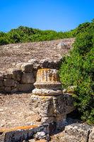 Old Column in Tharros archaeological site, Sardinia