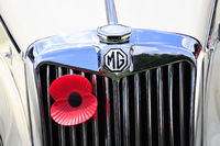 MG sports car/remembrance poppy
