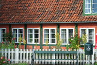 Old half-timbered house on Bornholm, Ronne